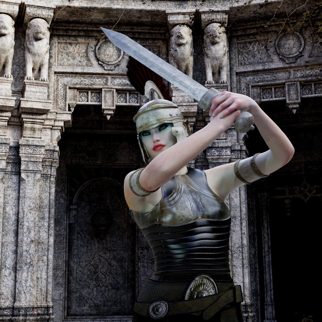 donna amazzone con spada